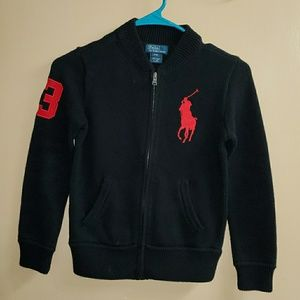 Boy's Polo Ralph Lauren Zip Up Sweater Small